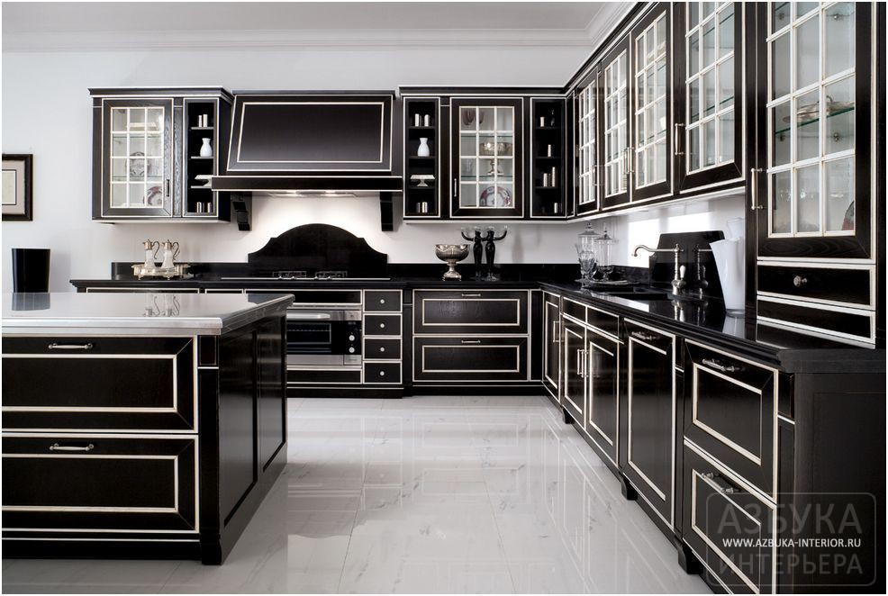 кухни черного цвета фото